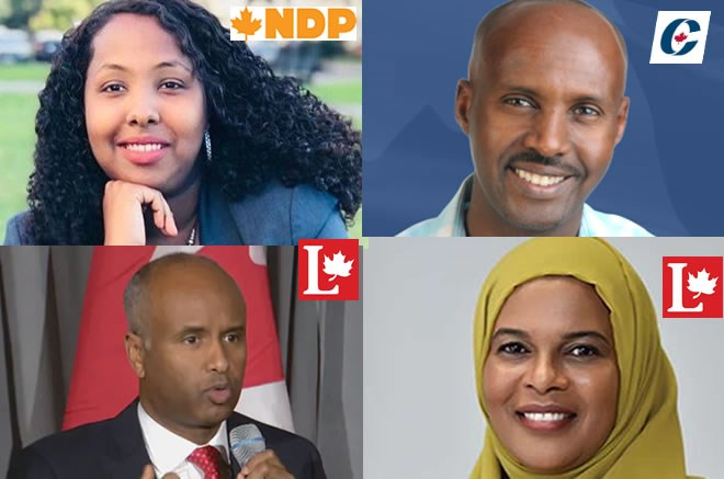 HISTORICAL: Four Somali-Canadians to contest for Parliamentary seats in upcoming poll