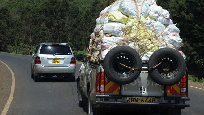 A pickup van transporting miraa. File | Nation Media Group