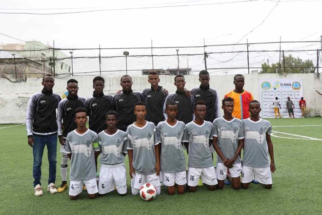 One of the teams taking part in the Elman U-16 tournament – Hilaac Sports Academy (Credit: Omar Muhammed)