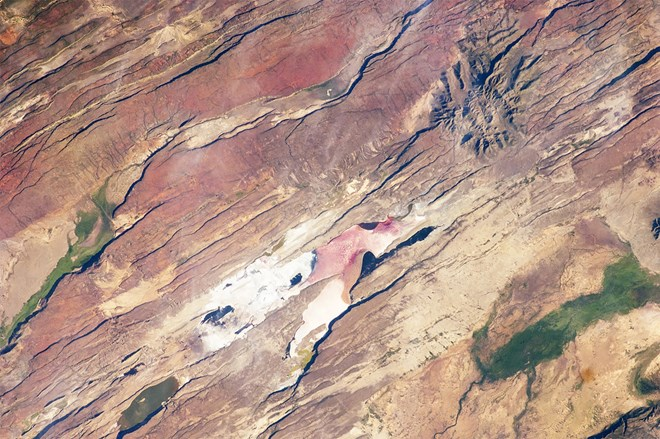 Astronauts aboard the International Space Station captured this photo in 2012 of the East African Rift Valley, a region where tectonic plates are peeling apart.NASA
