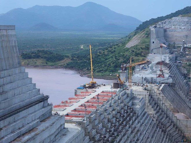 Ethiopia's Grand Renaissance Dam is seen as it undergoes construction on the river Nile in Guba Woreda, Benishangul Gumuz Region, Ethiopia, on September 26, 2019.Image Credit: Reuters