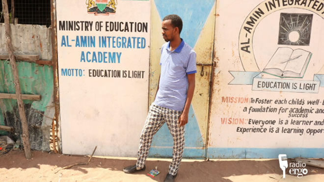 Abdirashid Hussein, a teacher at Al-amiin secondary school in Hagarder/Ahmed Abdullahi/Ergo
