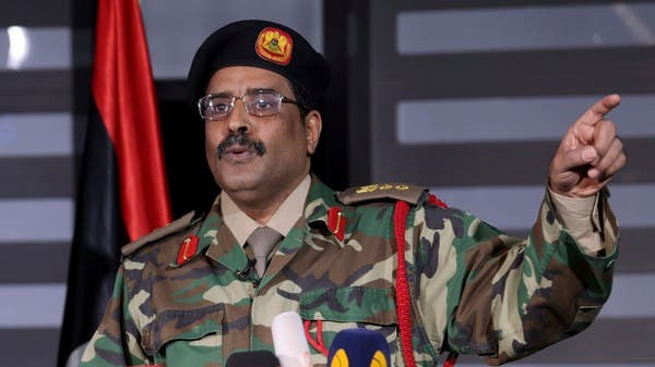 Libyan National Army (LNA) spokesman Ahmed al-Mismari during a press conference in Benghazi, Libya. (File photo: Reuters)