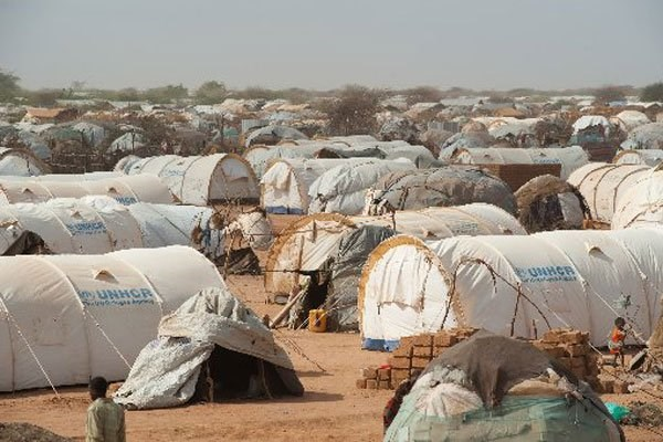 Dadaab Refugee Camp. Two residents of the Dadaab complex have tested positive for Covid-19. FILE PHOTO | PHIL MOORE | AFP