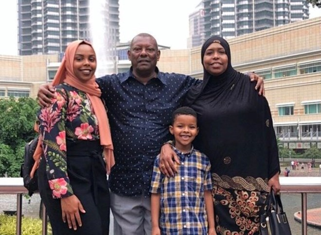 Afnan Salem with her parents and nephew in Kuala Lumpur during a recent visit in July 2019.PHOTO PROVIDED BY AFNAN SALEM