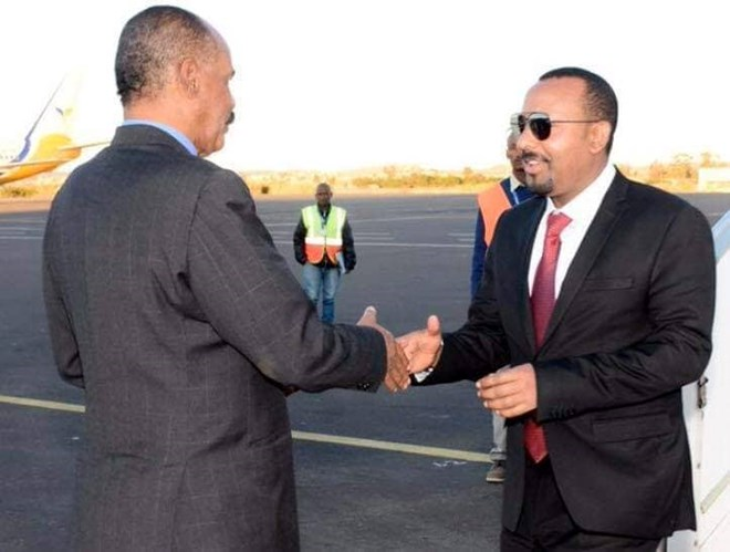 PM Abiy arrives in Asmara to hold talks with President Afwerki