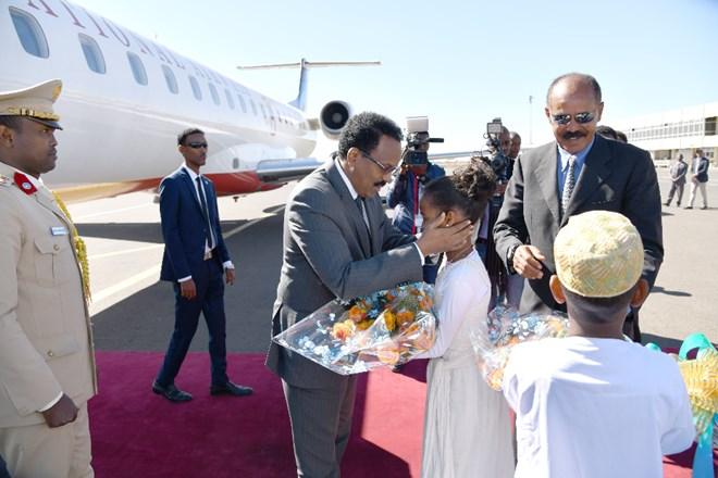 Somali President arrives in Asmara for Tripartite Summit