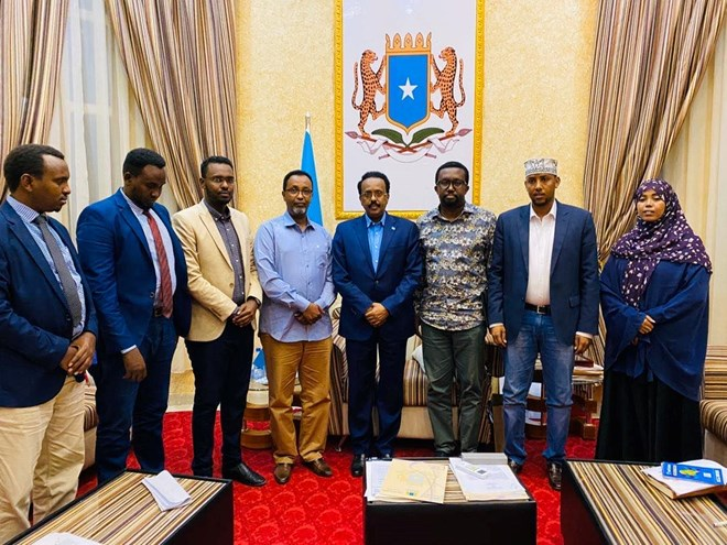 NUSOJ raises anti-media legislation concerns in meeting with Somali President