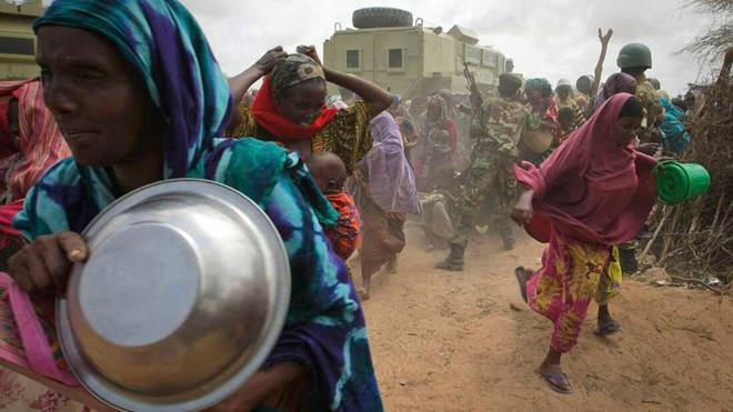 FAO report says almost 50 million people in the Horn require urgent food and water assistance. PHOTO | AFP