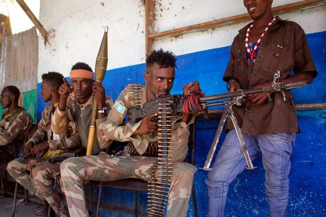 Anti-government military forces in Mogadishu. Credit...Farah Abdi Warsameh/Associated Press