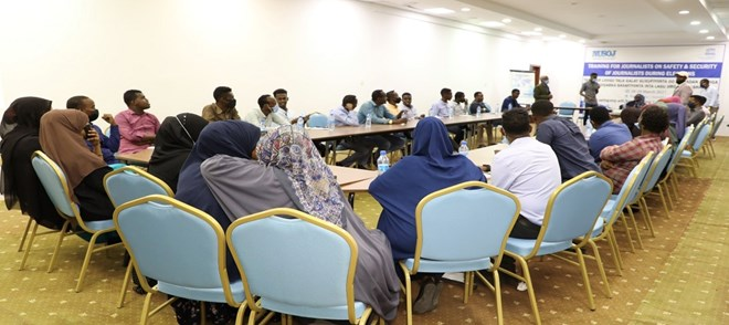 Participants at the safety training of journalists in Mogadishu, Somalia ©UNESCO