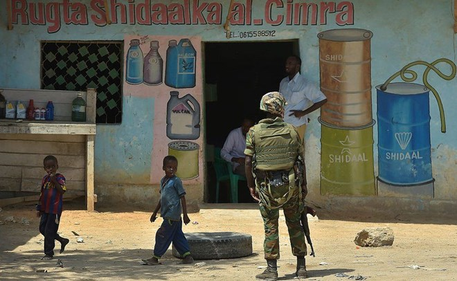 African Union troops provide vital security in Somalia.AFP