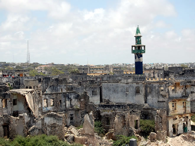 Enlarge Frank Langfitt / NPR - Much of Mogadishu is in ruins after ...