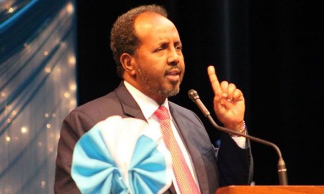Somali president's Northrop speech draws protest