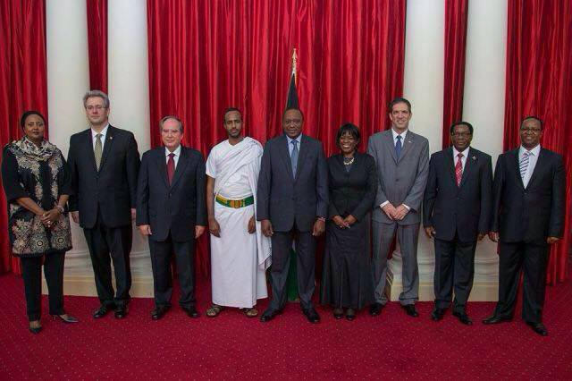 Kenyan President Receives Diplomatic Credentials From