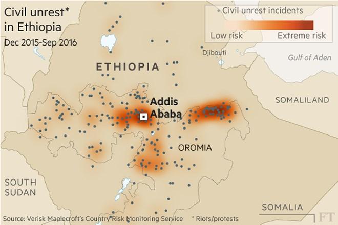 2016106636113193785417953oromo ethiomapo Ethiopian protesters ramp up attacks on foreign firms