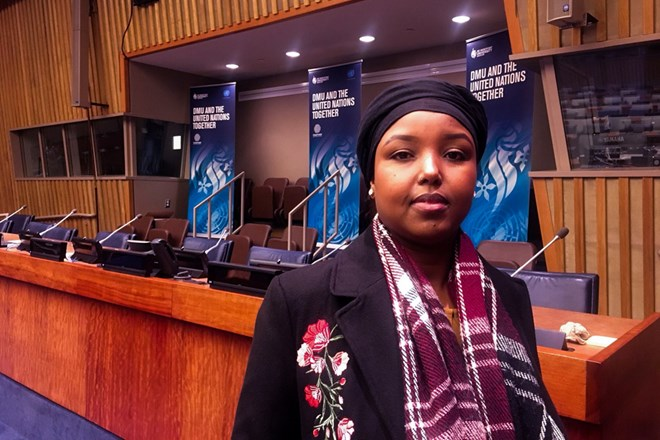 DMU student shares her experience as a refugee during visit to UN HQ