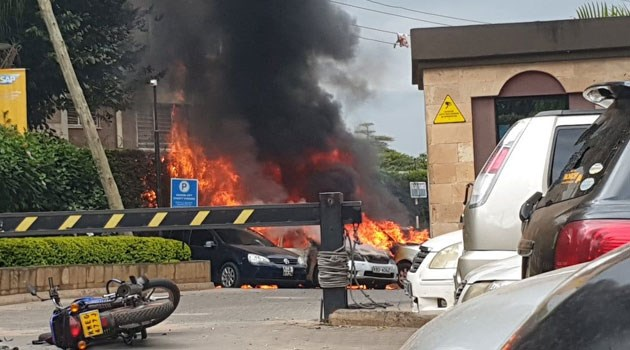Explosion, gunshots on 14 Riverside Drive in Nairobi