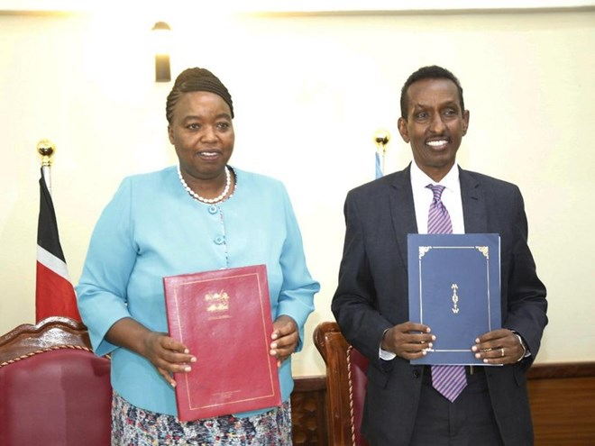 Kenya, Somalia commit to joint efforts in trade and war on