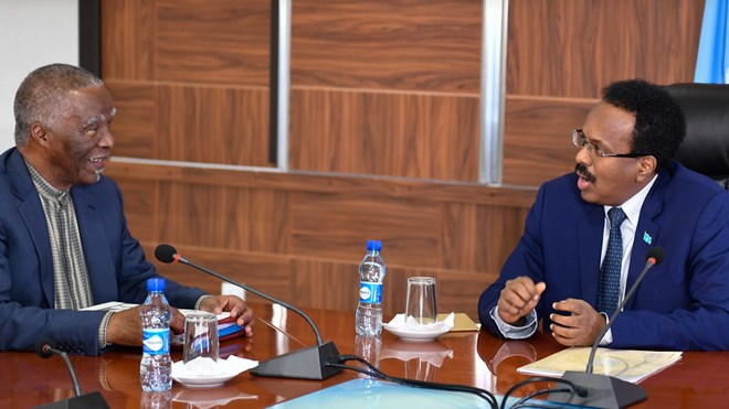 Former President Mbeki discusses with president Farmajo on regional integration