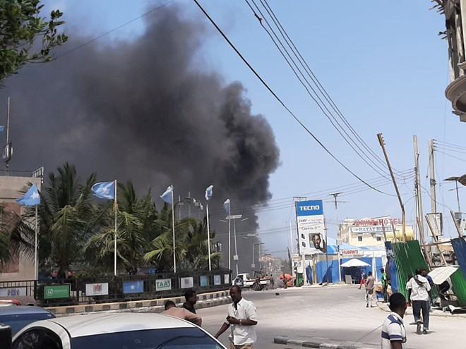 Mogadishu explosion: Suspected car bomb blast in Somalia's capital