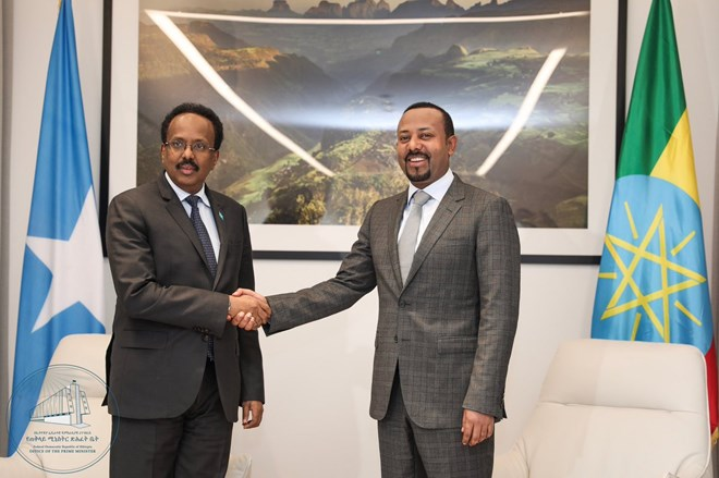 PM Dr Abiy holds talks with Somali President