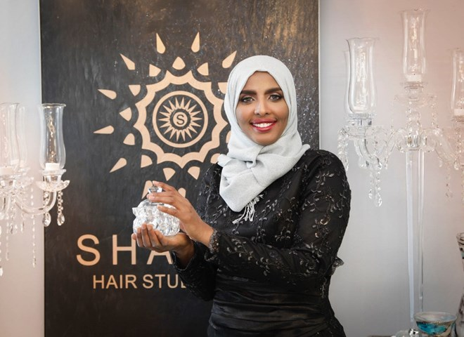 Hijab-wearing Muslim Americans get haircuts in basements, closets, and restrooms. One salon wants to change that.