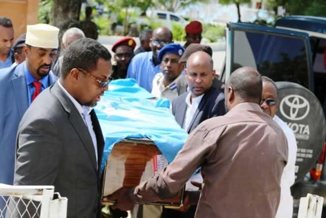 Maydka Danjirihii Somalia ee Masar oo Maanta laga soo dajiyay Magaalada Muqdisho