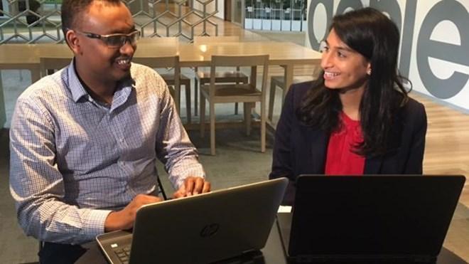 Mentee Abdurrahman Ahmed with his mentor Rita Chandra (SBS