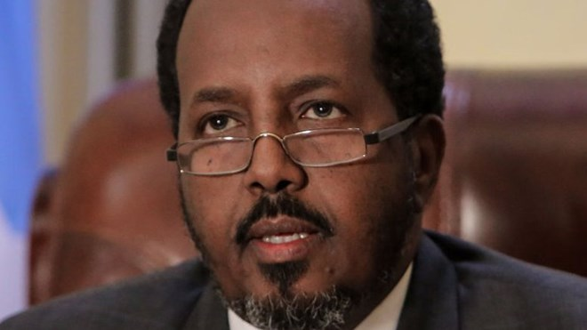 Somalia's President Hassan Sheikh Mohamud. Photo Credit: AMISOM Public Information, Stuart Price, Wikipedia Commons.