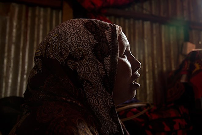 """Ms. Ibrahim says FGM is an important cultural practice. """"Circumcision is important as a transition to adulthood,"""" she told UNFPA. © UNFPA/Georgina Goodwin"""