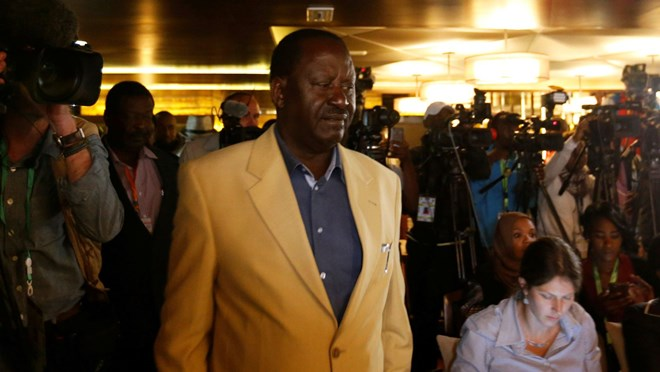 Declare me president.(Reuters/Thomas Mukoya)