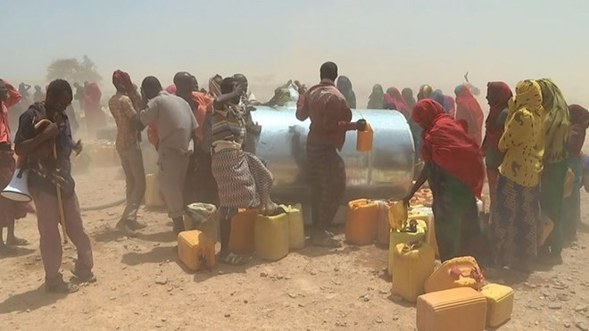 Aid has started to get through, but the crisis is far from over. Credit: ITV News