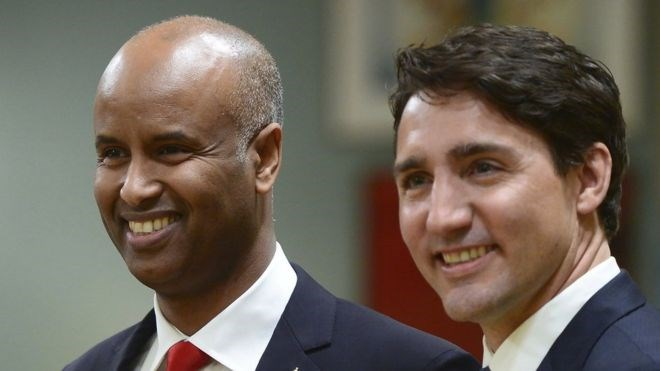 Ahmed Hussen is Canada's new minister of immigration in Justin Trudeau's government