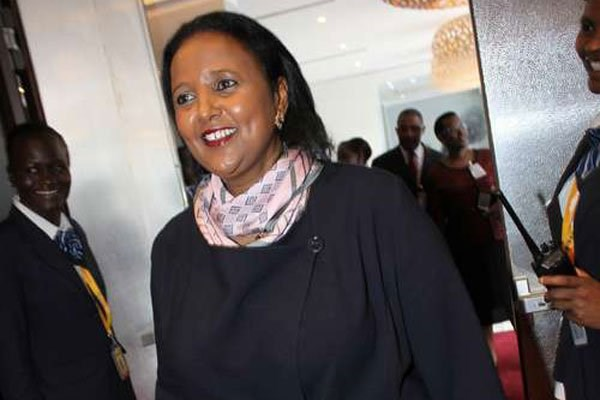 Amina Mohamed, the Cabinet Secretary for Foreign Affairs and International Trade, at Radisson Blu Hotel, Nairobi on May 6, 2016 for the 4th Retreat of the African Union Executive Council. PHOTO | ANTHONY OMUYA | NATION MEDIA GROUP