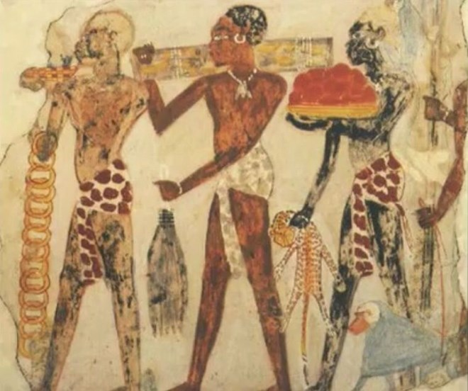 The-Egypto-Nubian-Chief-Nehesil leading his men to Punt