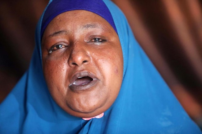 Fahmo Mantan Warsame speaks during a Reuters interview inside her home in Mogadishu, Somalia February 21, 2018. REUTERS/Feisal Omar