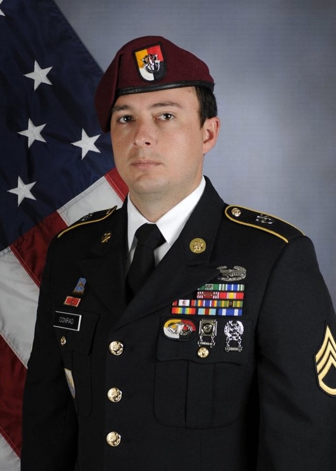 The Department of Defense on Saturday identified the American service member killed during a June 8 mission in Somalia against terror group Al-Shabaab as 26-year-old Staff Sgt. Alexander W. Conradof Chandler, Arizona