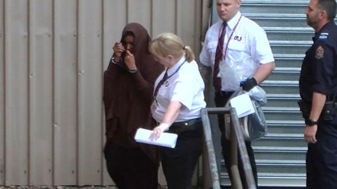 The nursing student denies being a member of the group. Picture: 9NEWS