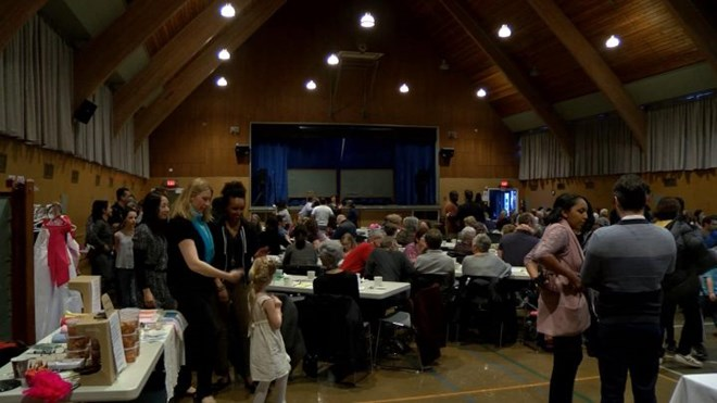 The event was held at the First Metropolitan United Church Hall on 932 Balmoral Road