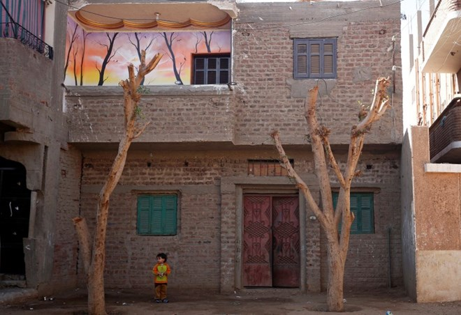 A view of Amany Shamekh's house in Awlad Serag village of Assiut Governorate, south of Cairo, Egypt, February 8, 2018. Picture taken February 8, 2018. REUTERS/Hayam Adel