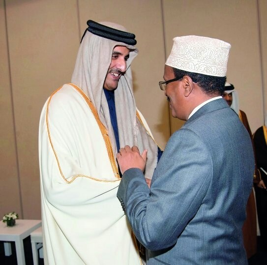 Emir H H Sheikh Tamim bin Hamad and H E President Mohamed Abdullahi Farmajo during OIC meeting in Istanbul December last year