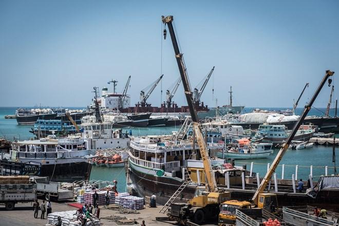 Bossaso port, the economic hub of northern Somalia, in late March 2018. (J. Patinkin/VOA)
