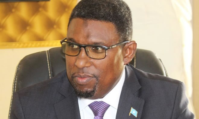 Somalia's minister of petroleum & mineral resources Abdirashid Mohamed Ahmed