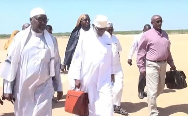 Somaliland delegation arriving Beledweyne