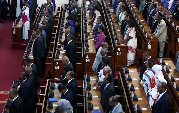 FILE PHOTO: Members of the Ethiopian Parliament in Addis Ababa. (Photo by Minasse Wondimu Hailu/Anadolu Agency/Getty Images)
