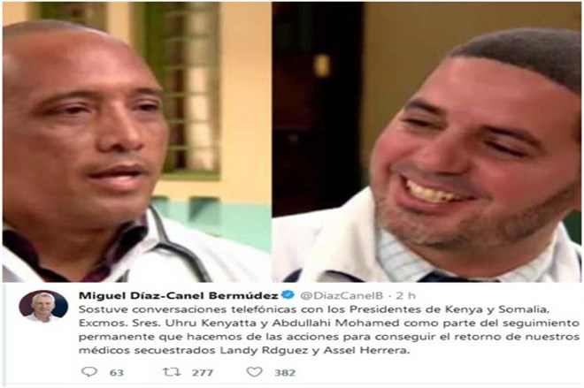 Diaz-Canel Closely Follows Case of Kidnapped Cuban Doctors