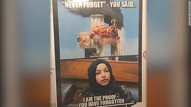 rep  ilhan omar blasts gop over poster linking her with