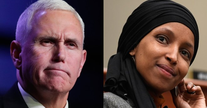 pence calls for omar to be removed from house foreign