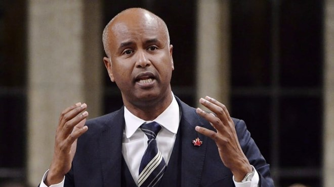 Immigration Minister Ahmed Hussen on Friday announced new measures to protect migrant workers in abusive situations and newcomers suffering domestic violence. (Adrian Wyld/Canadian Press)